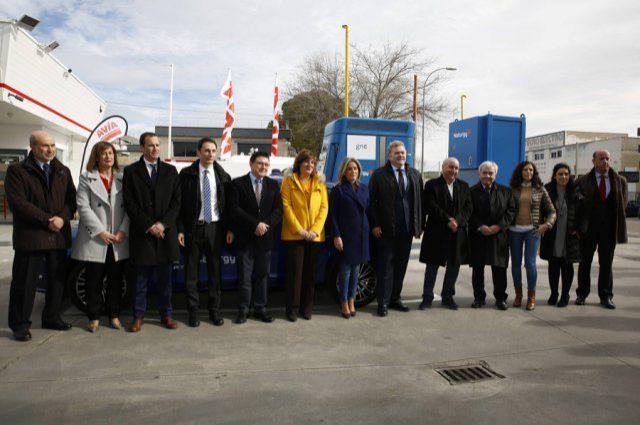 Fiat Professional acude a la inauguración de una gasinera en Toledo