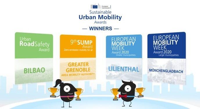 Ganadores de los premios europeos de movilidad sostenible