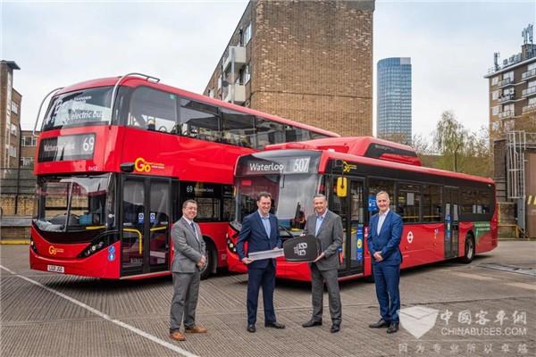El autobús eléctrico BYD, número 500 entregado al Reino Unido