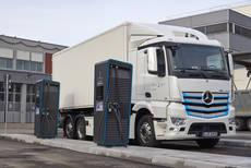 Iniciativa de E-Mobility para cargar camiones eléctricos