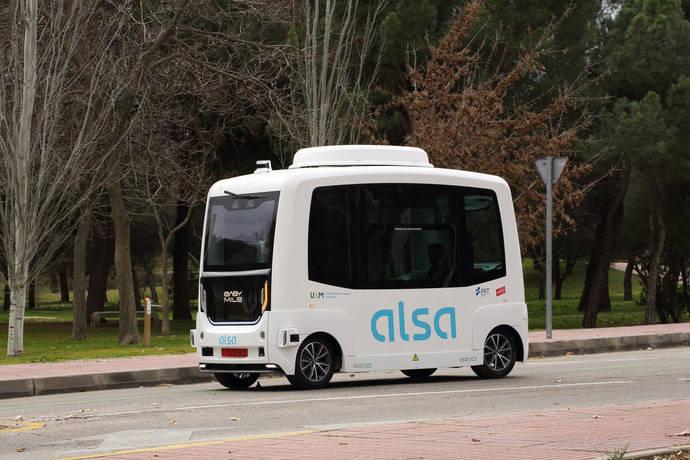 Alsa opera el primer bus autónomo en tráfico abierto
