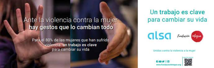 Alsa e Integra, campaña para eliminar la violencia contra la mujer