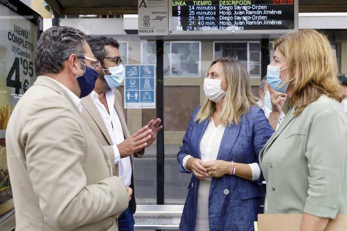 Huelva incorpora paneles de tiempos de espera en las paradas