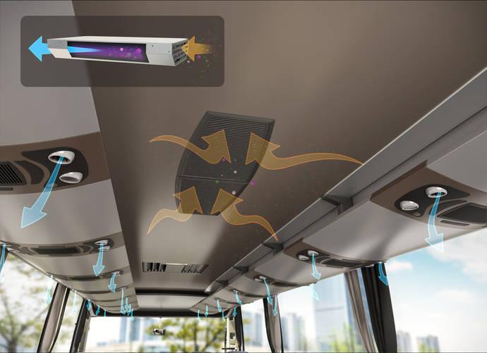 Valeo equipa autobuses para eliminar más del 95% de los virus