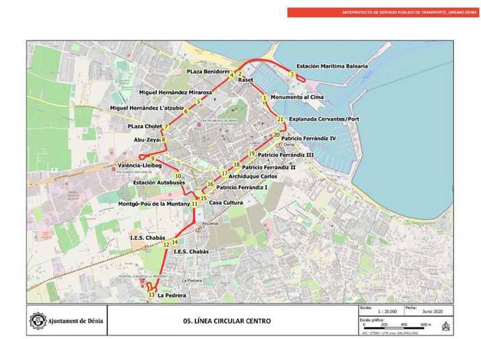 Denia proyecta una línea circular de autobús para su casco urbano
