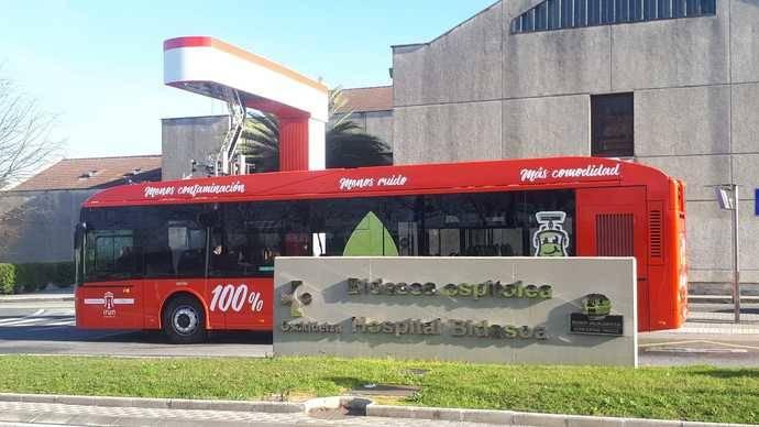 Irún estrena su línea de autobuses eléctricos de Vectia