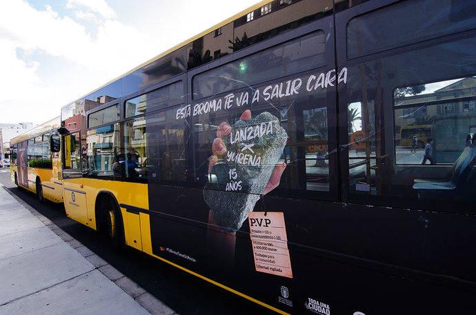 Guaguas Municipales exhibe la nueva campaña contra el vandalismo