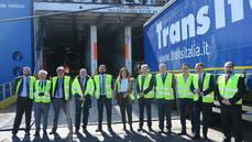 Foto de Familia: Primer transporte intermodal europeo eCMR España.