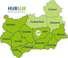 Mapa hub sur regional.