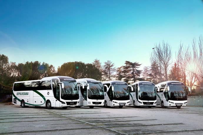 Cinco autocares MAN para el turístico de La Sepulvedana