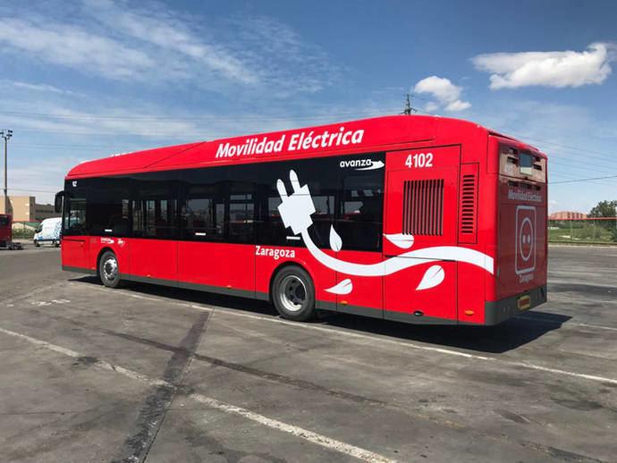 Avanza prueba el nuevo autobús eléctrico de MAN en Zaragoza