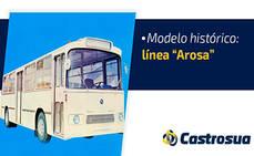 El autobús urbano Arosa de Castrosua cumple 50 años
