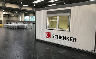 DB Schenker apoya la creación de un hospital de campaña en Hannover