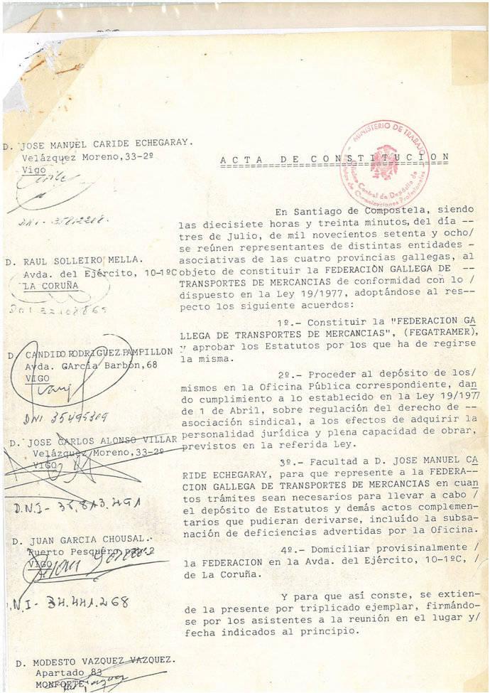 40 años de defensa del interés del Sector gallego
