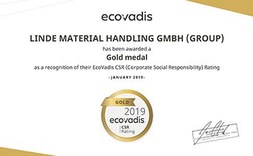 Linde gana el oro EcoVadis por su RSC