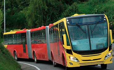 Scania entrega 741 autobuses de gas a Bogotá