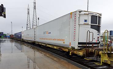 Transfesa lanza un transporte exprés frigorífico por tren a Gran Bretaña