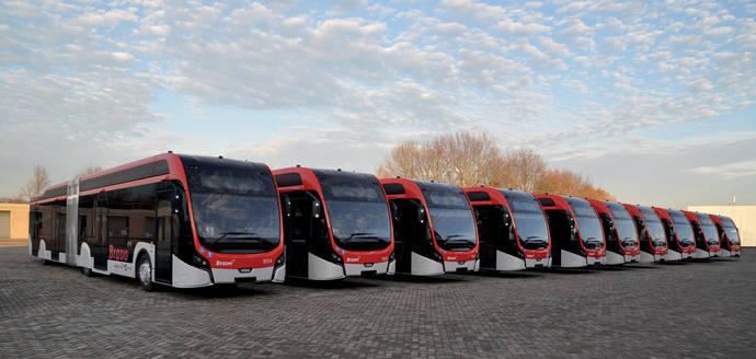 43 VDL Citea SLFA eléctricos en servicio regular en la región de Eindhoven