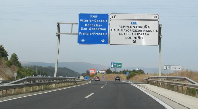 Autovía A-15.