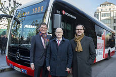 Mercedes entrega el primer bus urbano 100% eléctrico a Hamburgo