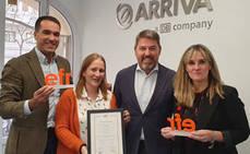Arriva Madrid, reconocida por sus buenas prácticas en conciliación