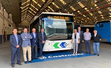 Visita al lugar donde se fabricarán los buses de Palma