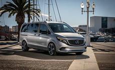 Las Mercedes-Benz Concept EQV completan su primer viaje en Barcelona