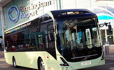 Volvo suministrará autobuses eléctricos al aeropuerto de Birmingham