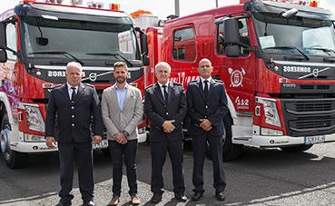 El Consorcio de Bomberos de Tenerife incorpora dos BUP Volvo FM