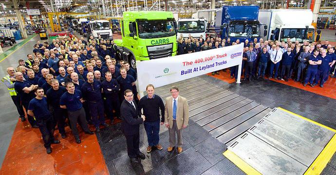 LeylandTrucks celebra la producción del camión 400.000