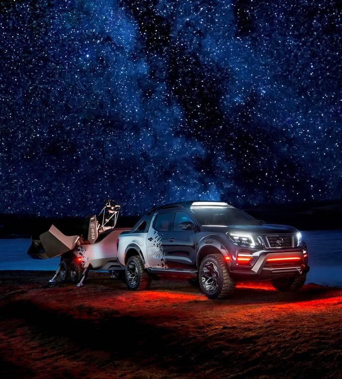 El prototipo Nissan Navara Dark Sky es un observatorio espacial móvil