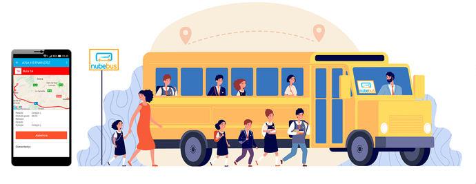 Acompañantes Nubebus, la nueva plataforma para la digitalización del transporte escolar