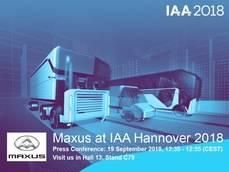 Cartel de Maxus en la IAA 2018.