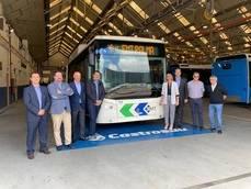 Visita al lugar donde se fabricarán los buses de EMT Palma.