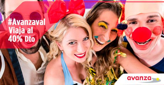 Avanza adelanta el carnaval con descuentos de hasta el 40%