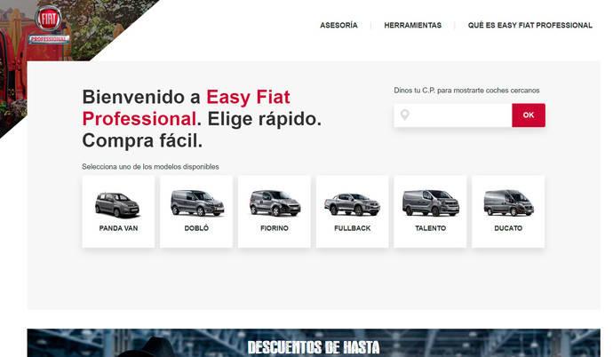 Fiat agiliza la elección del vehículo adecuado en su web