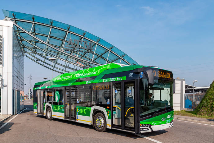 10 Solaris Urbino eléctricos para operar en Milán