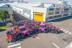 Campaña contra el cáncer de mama en Valladolid.