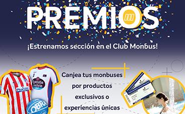 El Club Monbus estrena sección de premios para sus usuarios