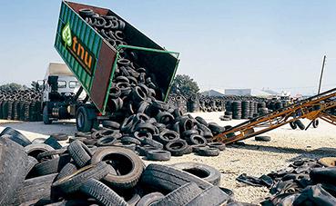 TNU presenta su sistema de recogida y reciclaje de neumáticos