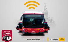 Tussam ofrecerá Wi-Fi gratuito a sus clientes en todos sus autobuses