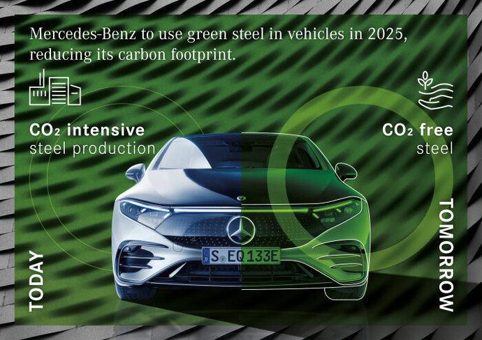Mercedes Benz usará acero verde en 2025 para descarbonizar