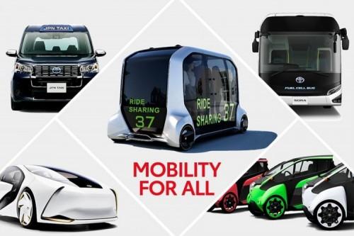 Distintos vehículos de Totoya para Tokio 2020.