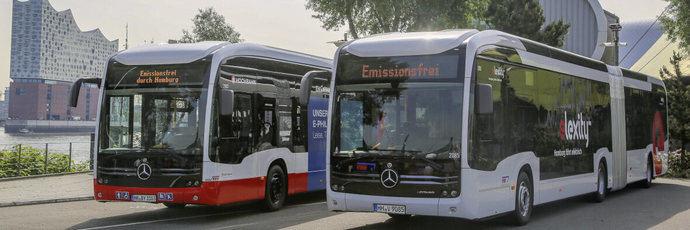 Doble entrega de los autobuses Mercedes-Benz eCitaro G a Hamburger