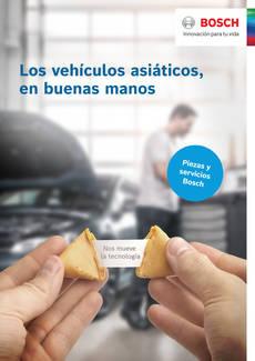 Nuevas piezas de repuesto y servicios Bosch para vehículos asiáticos