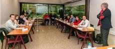 En la imagen, parte de los alumnos junto al profesor Joaquín Tutusaus Cebria.