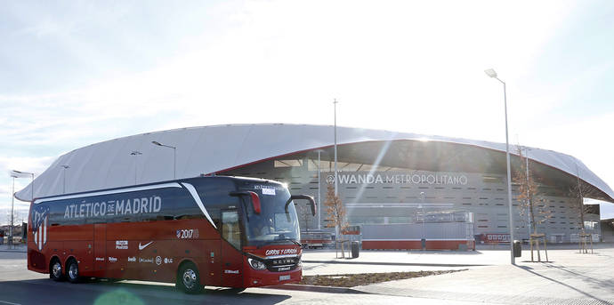 Monbus se encarga del autocar del Atlético de Madrid