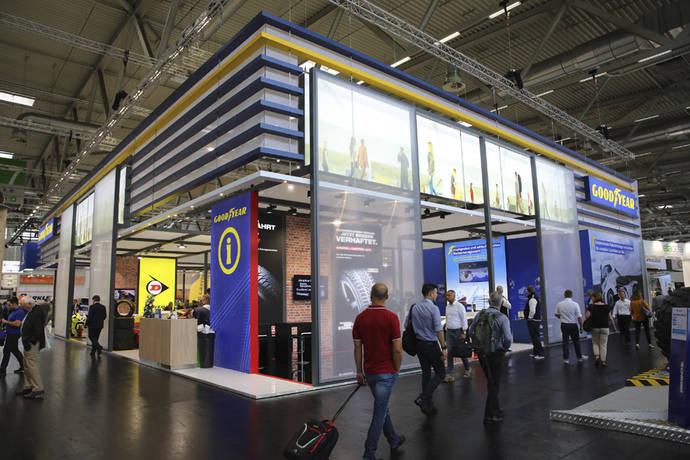 Servicios Goodyear en red en 3D para industriales
