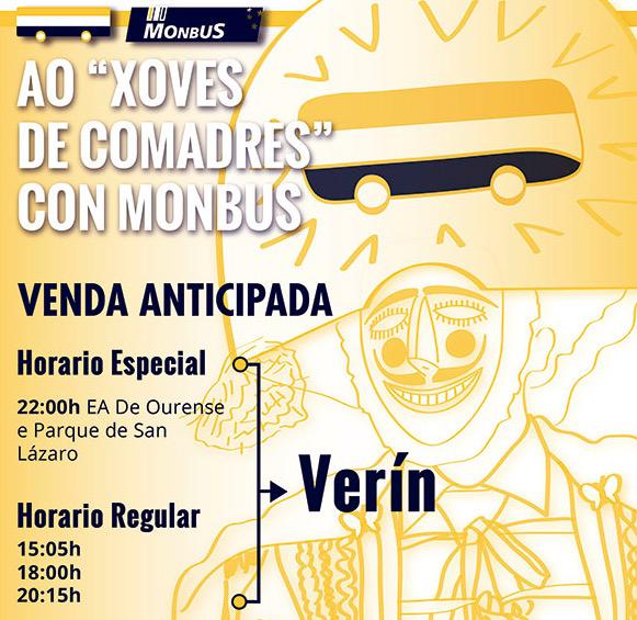 Servicios especiales de Monbus de cara al Carnaval