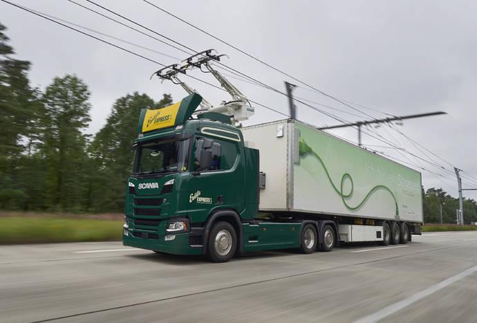 Scania probará su autopista eléctrica en Alemania